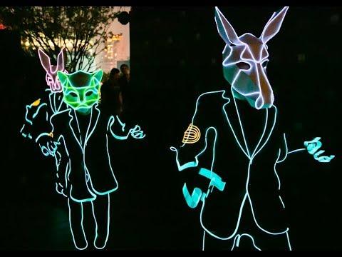 動物冷光舞  野性俏皮的叢林份子 金普頓大安酒店開幕派對
